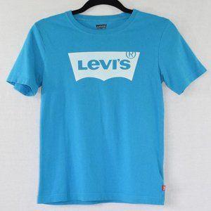 Levi's Blue Short Sleeve Graphic Tee Size Medium